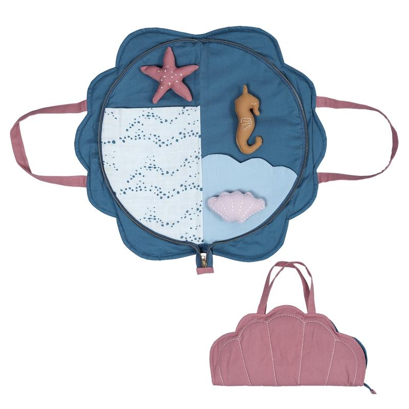 Spieltasche 'Ozean' Muschel blau/mauve 42cm