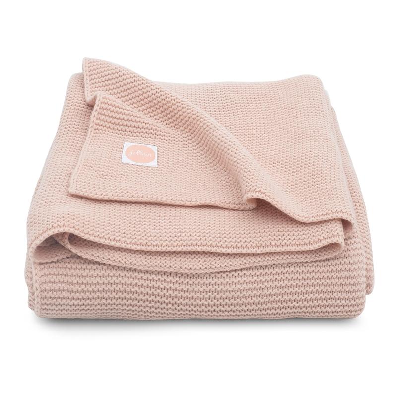 Kuscheldecke 'Basic Knit' Strick puderrosa