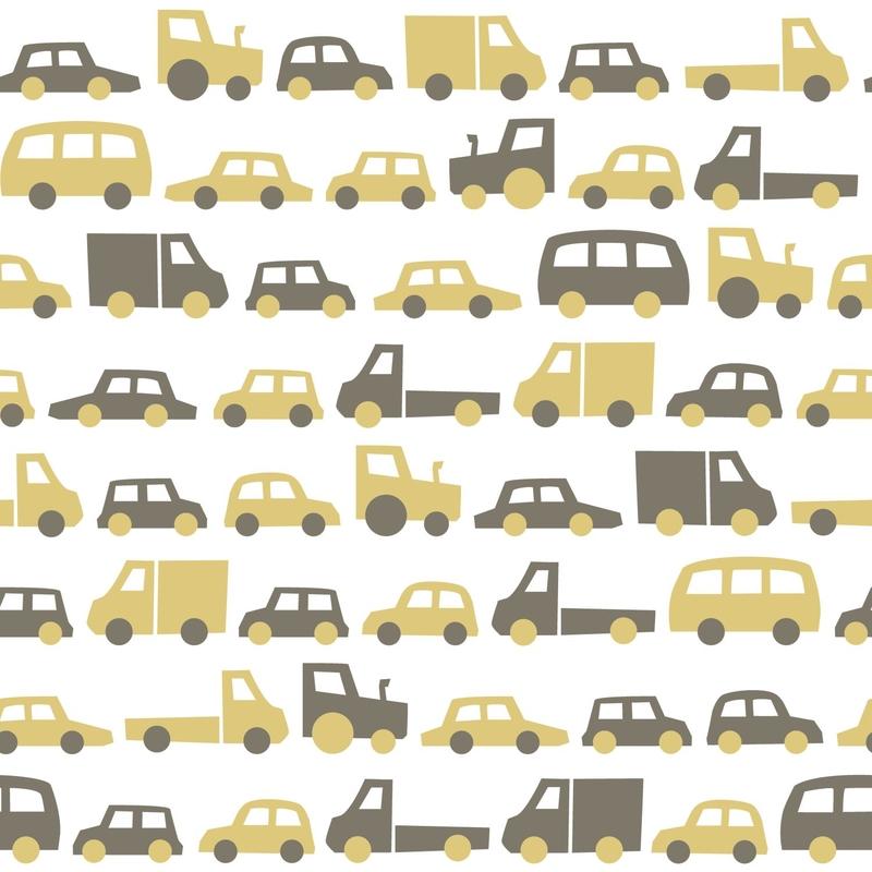 Vliestapete 'Autos & Fahrzeuge' ocker/khaki