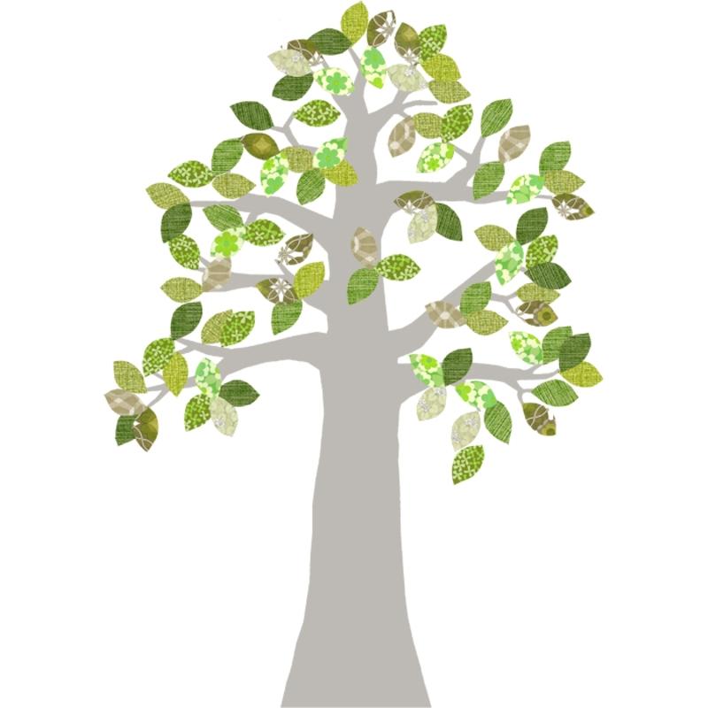Tapetenbaum silber/grün 230cm