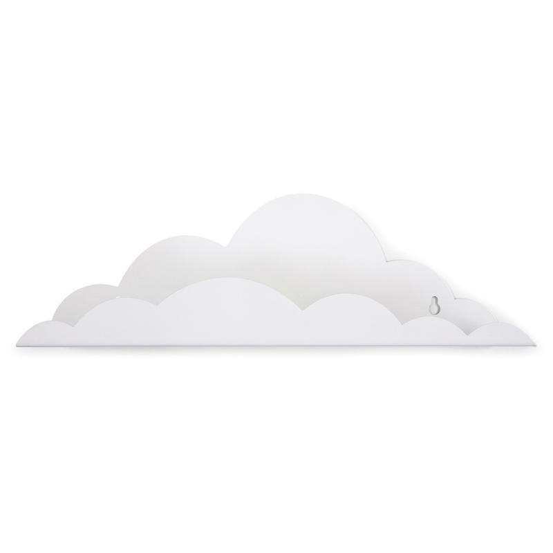Wolkenregal aus Metall weiß 45cm