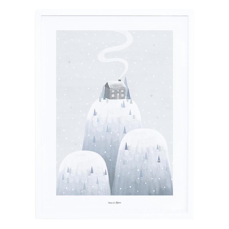 Bild 'Arctic' Berge grau/blau 30x40cm