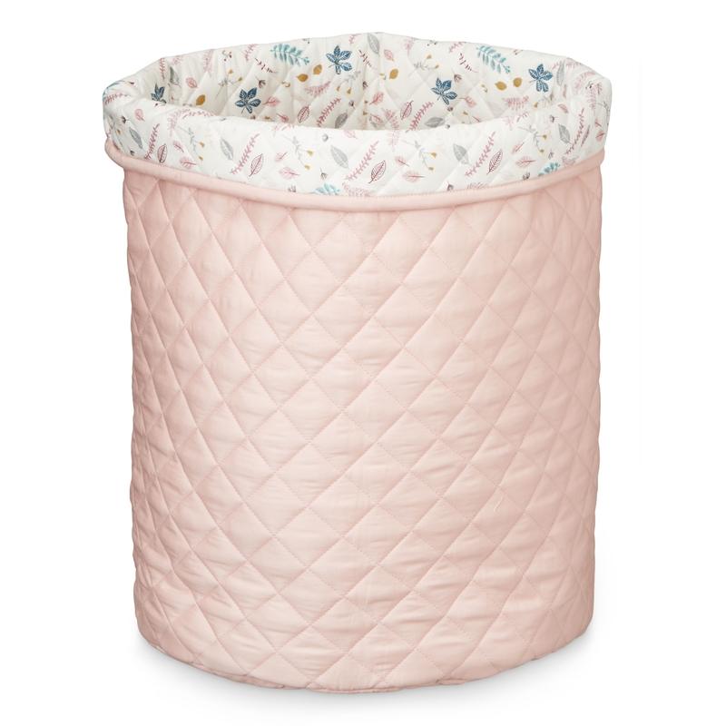 XL-Aufbewahrungskorb 'Blätter' rosa 55cm