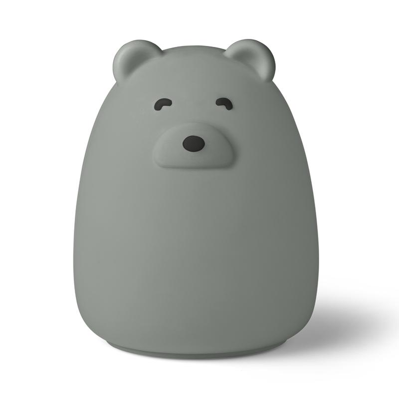 Nachtlicht 'Bär' Silikon graublau ca. 14cm