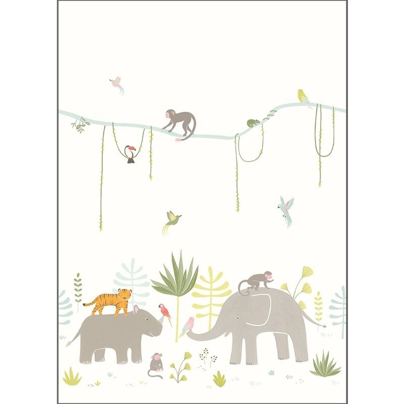 Fototapete 'Happy Dreams' Dschungel 200cm