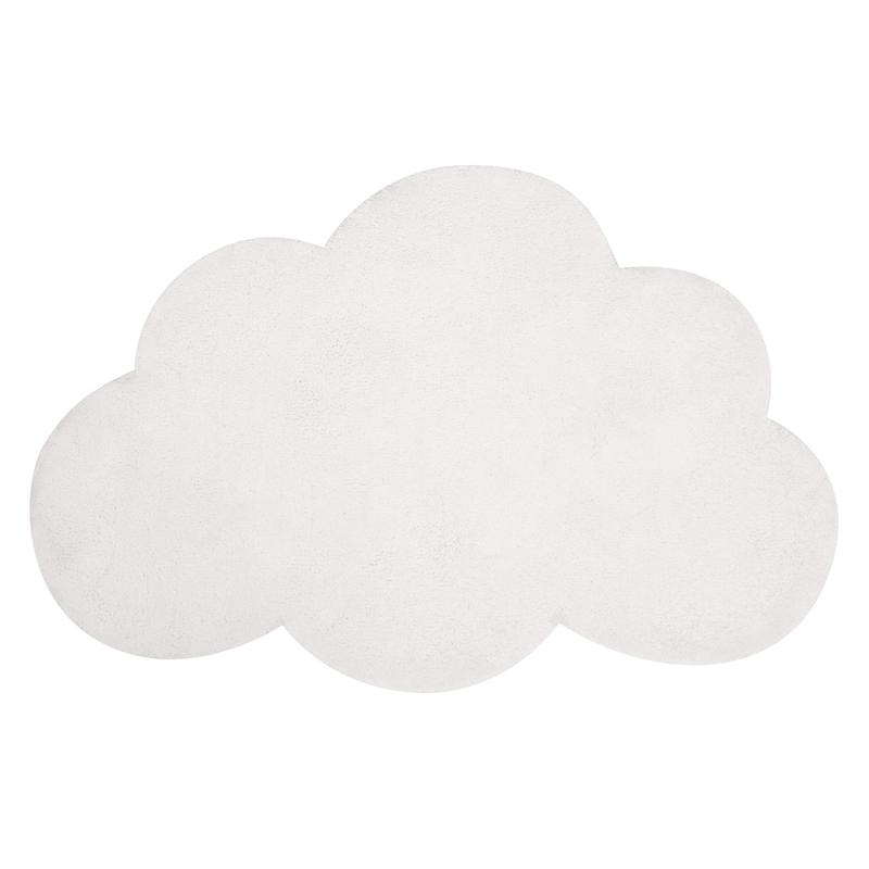 Kinderteppich 'Wolke' weiß ca. 64x100cm