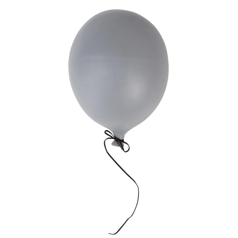 Luftballon für die Wand grau ca. 23cm