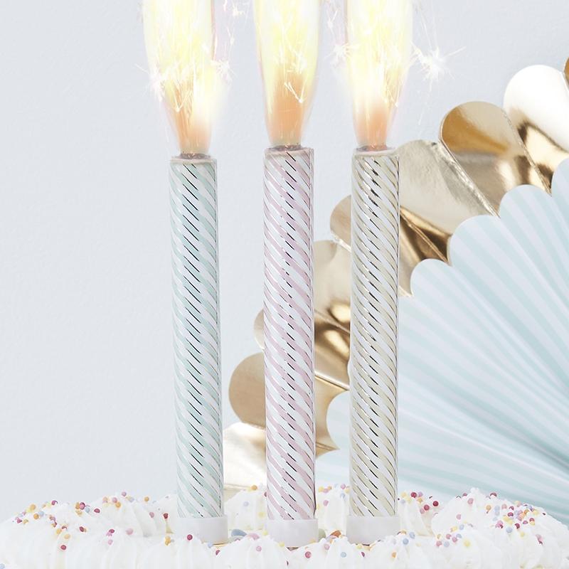 Tortenfeuerwerk 'Pick & Mix Pastell' 3er Set