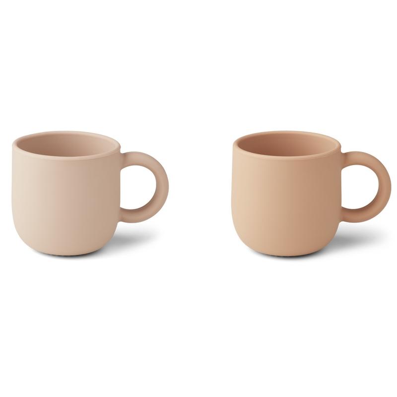 Tasse aus Silikon rosa 2er Set