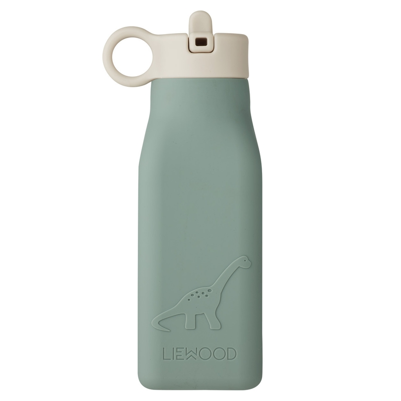 Trinkflasche 'Dino' Silikon jade 350ml