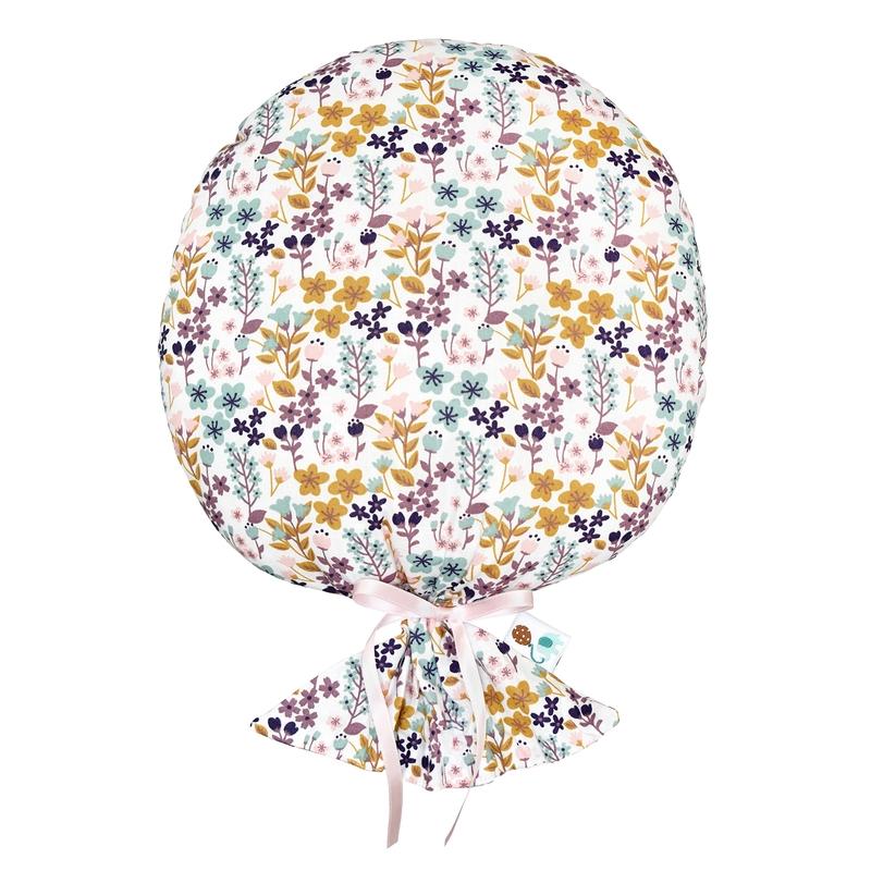 Kissen 'Blumen-Luftballon' rosa/bunt 35cm