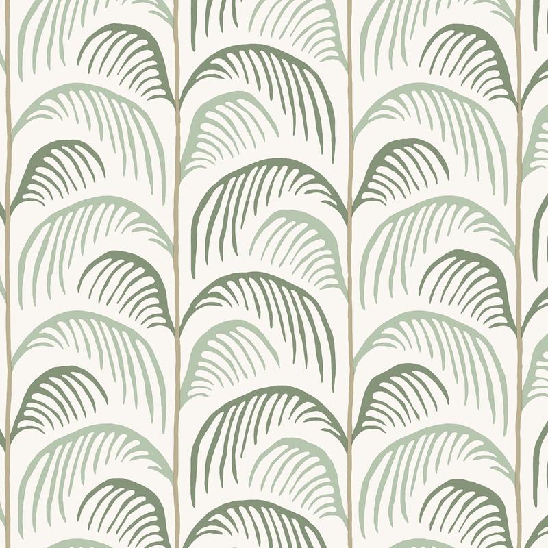 Vliestapete 'Mini Me' Blätter mint/grün