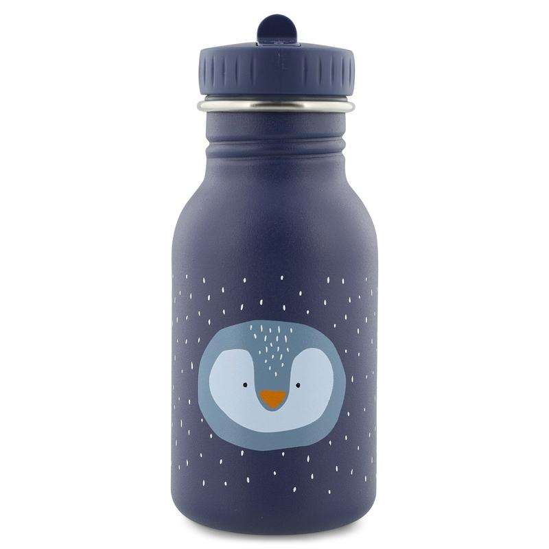 Trinkflasche 'Pinguin' Edelstahl dunkelblau 350ml