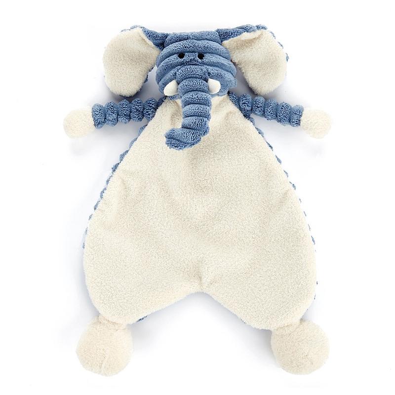 Kuscheltuch 'Babyelefant Cordy' blau/creme