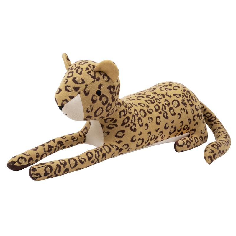 XL Kuscheltier 'Leopard' Strick senfgelb 88cm