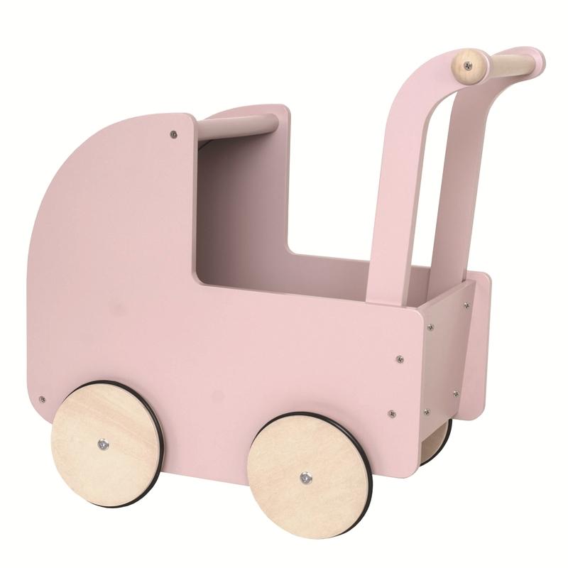 Puppenwagen Holz altrosa ab 18 Monaten