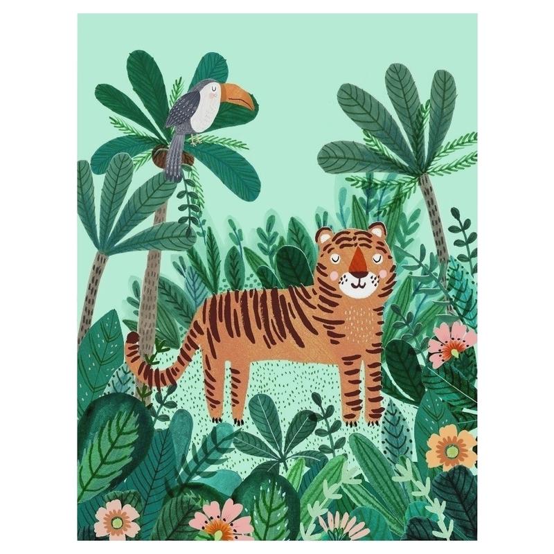 XL-Poster 'Tiger & Toucan' mint 50x70cm