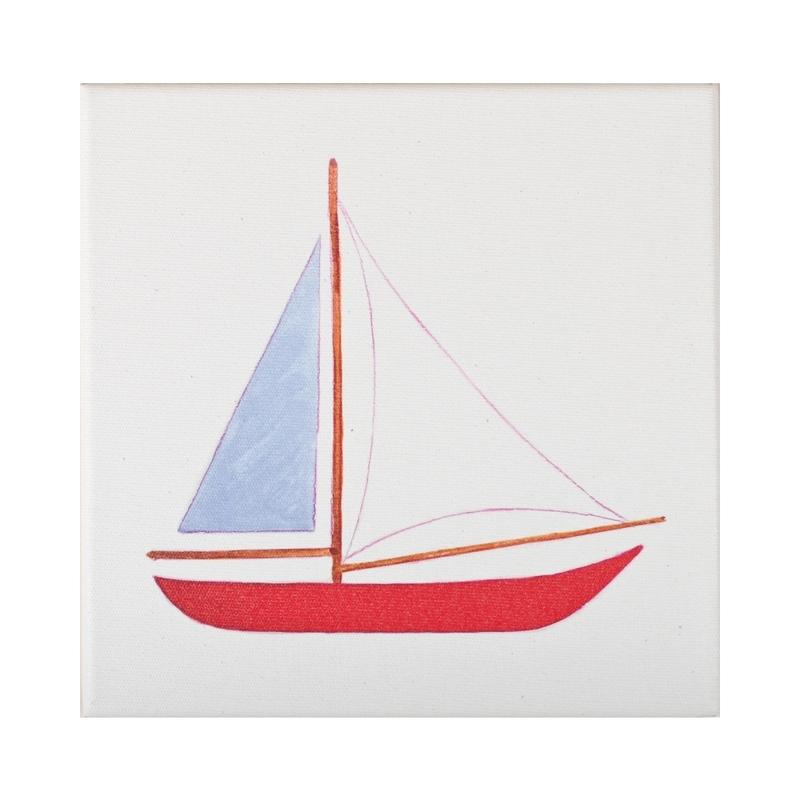 Leinwandbild 'Segelschiff' 30cm handmade