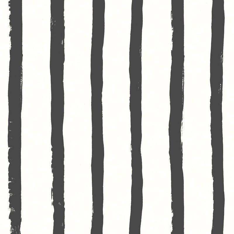 Tapete Streifen schwarz/weiß