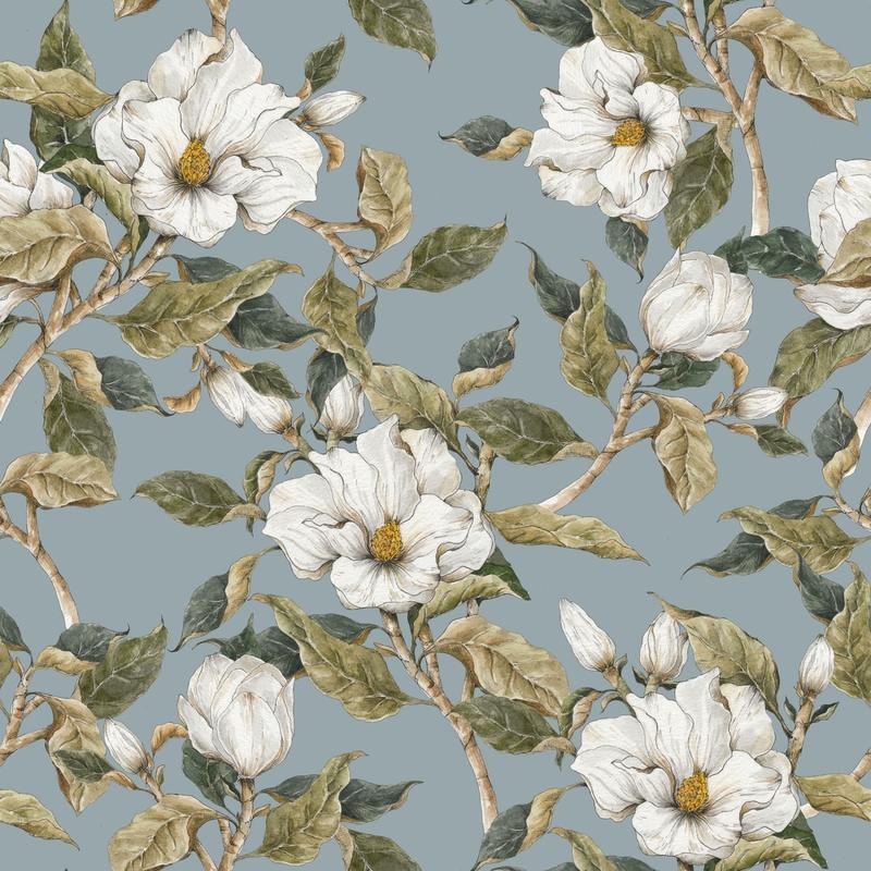 Tapete 'Vintage Magnolie' softpetrol 50x280cm