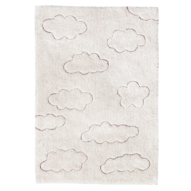 Teppich RugCycled 'Wolken' natur waschbar