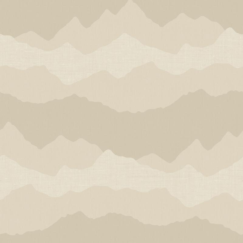 Vliestapete 'Berge' beige