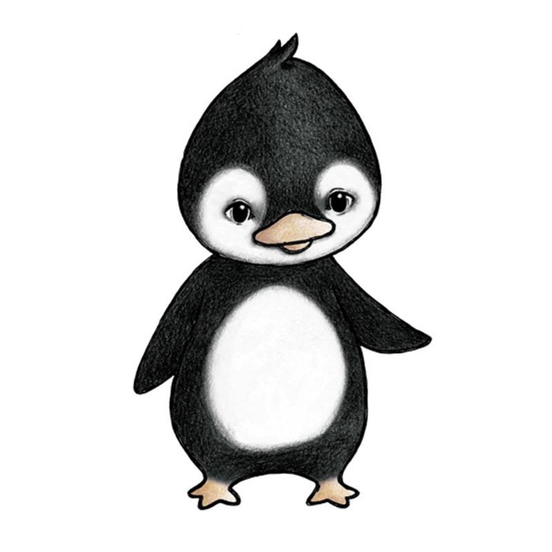 Tier-Wandsticker 'Pinguin' handgezeichnet