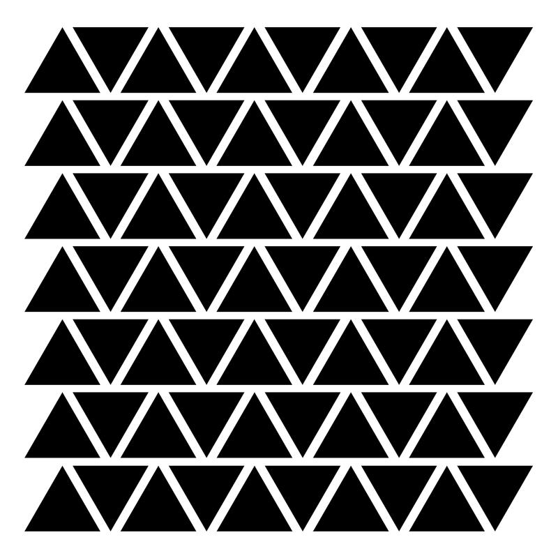 Wandsticker 'Dreiecke' schwarz 70-tlg.