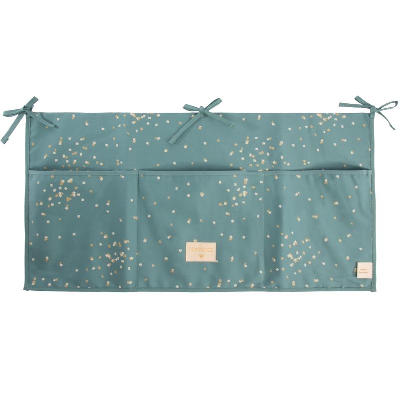 Utensilo 'Konfetti' jade/gold 30x60cm
