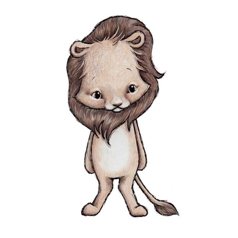Tier-Wandsticker 'Löwe' handgezeichnet