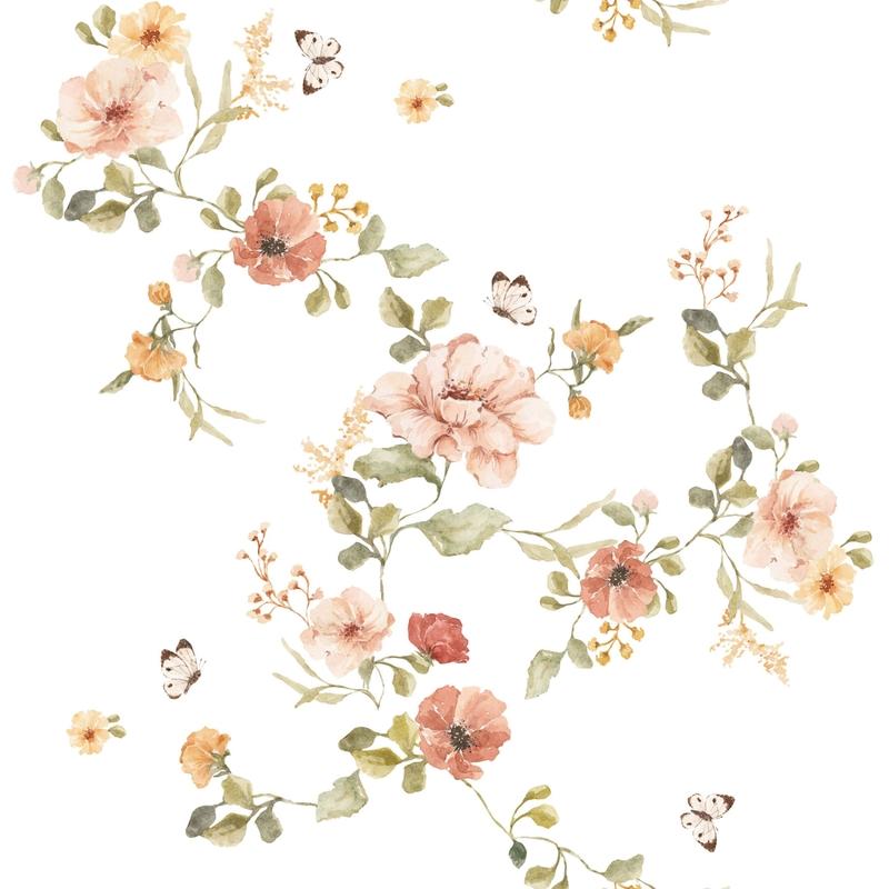 Vliestapete 'Vintage Blumen' 50x280cm