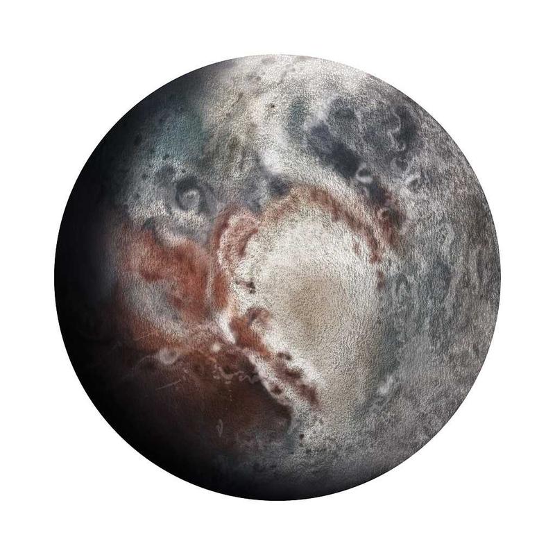 Wandsticker 'Pluto' handgezeichnet