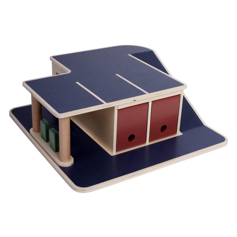 Parkhaus aus Holz blaugrau ab 1 Jahr