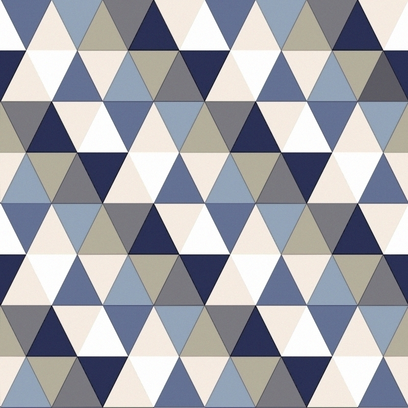 Vliestapete 'Triangle' blau/beige