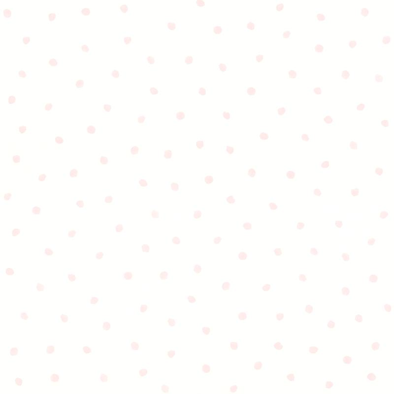 Vliestapete 'Punkte' weiß/puderrosa
