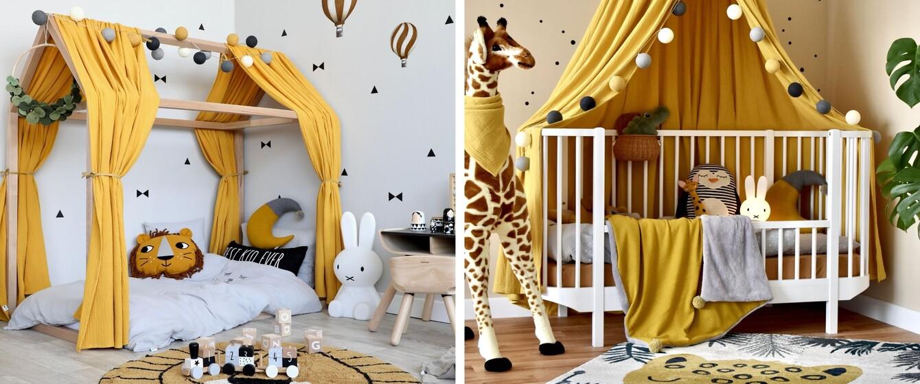 Kinderzimmer in Gelb & Cognac