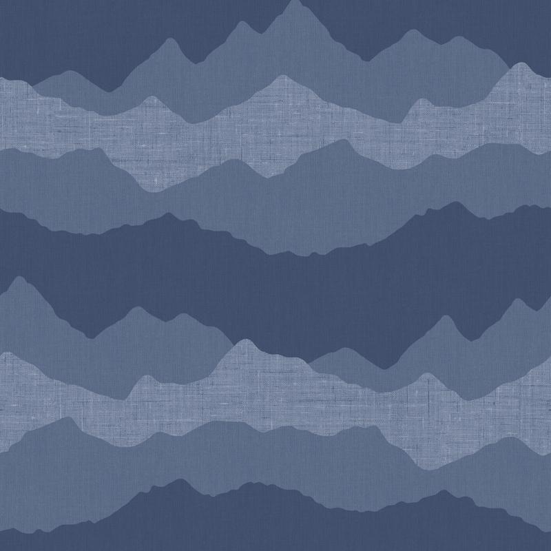 Vliestapete 'Berge' dunkelblau
