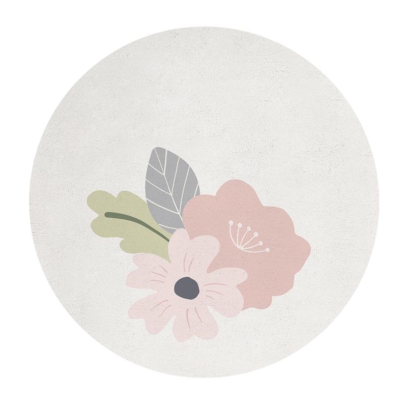 Teppich 'Blumen' rosa/creme 150cm
