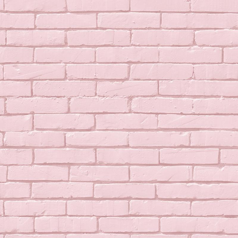 Tapete Backsteinwand rosa 'Pretty Lili'