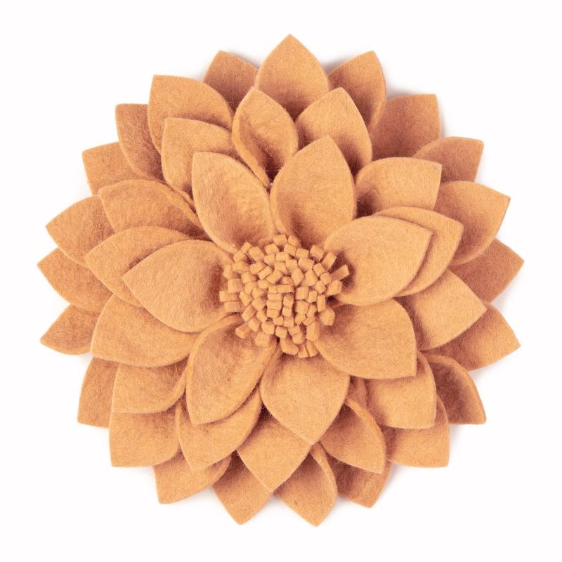 Wandblume aus Filz 'Kuba' nude 30cm