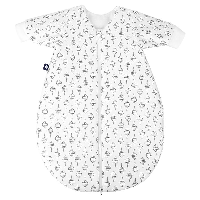 Winterschlafsack 'Bonsai' weiß/grau