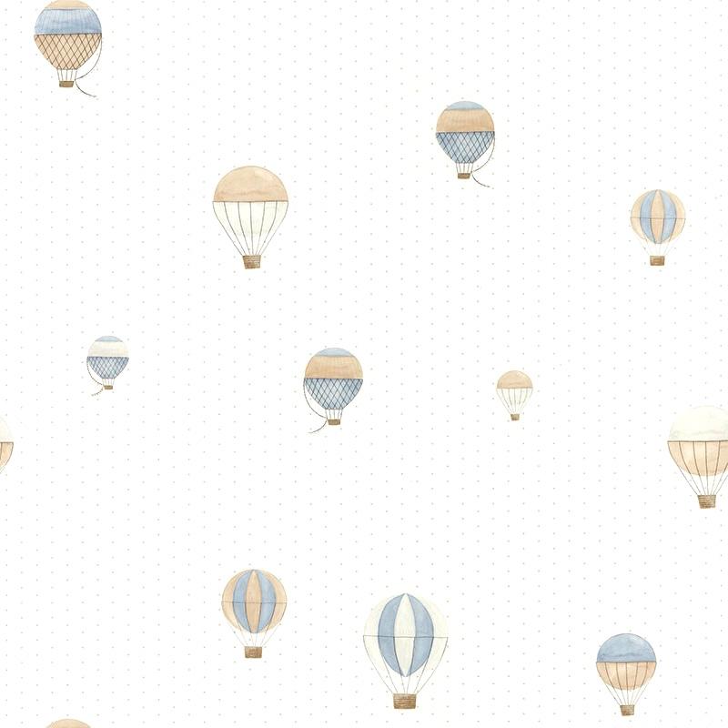Tapete 'My Little World' Heißluftballons' blau