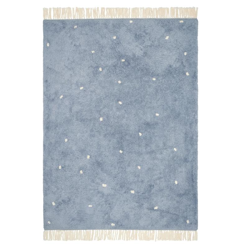 Teppich 'Dot' rauchblau 120x170cm waschbar