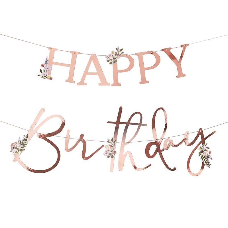 Happy Birthday Girlande 'Let´s Partea'