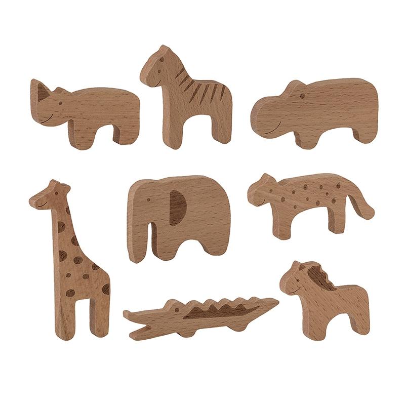 Zootiere aus Naturholz 8-tlg. ab 3 Jahren