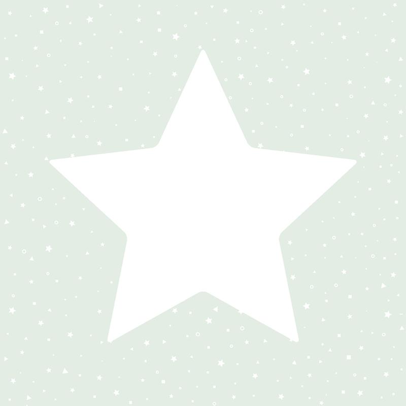 Kindertapete 'Sterne' mint/weiß