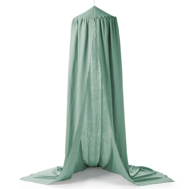 Betthimmel 'Terra' Musselin grün Ø 50cm