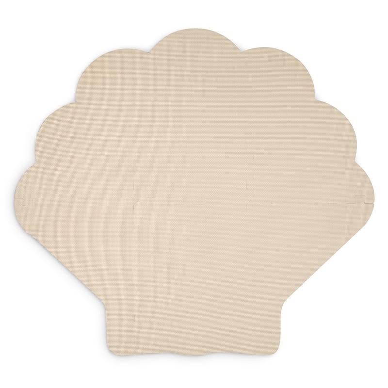 Puzzlematte 'Muschel' beige 110cm