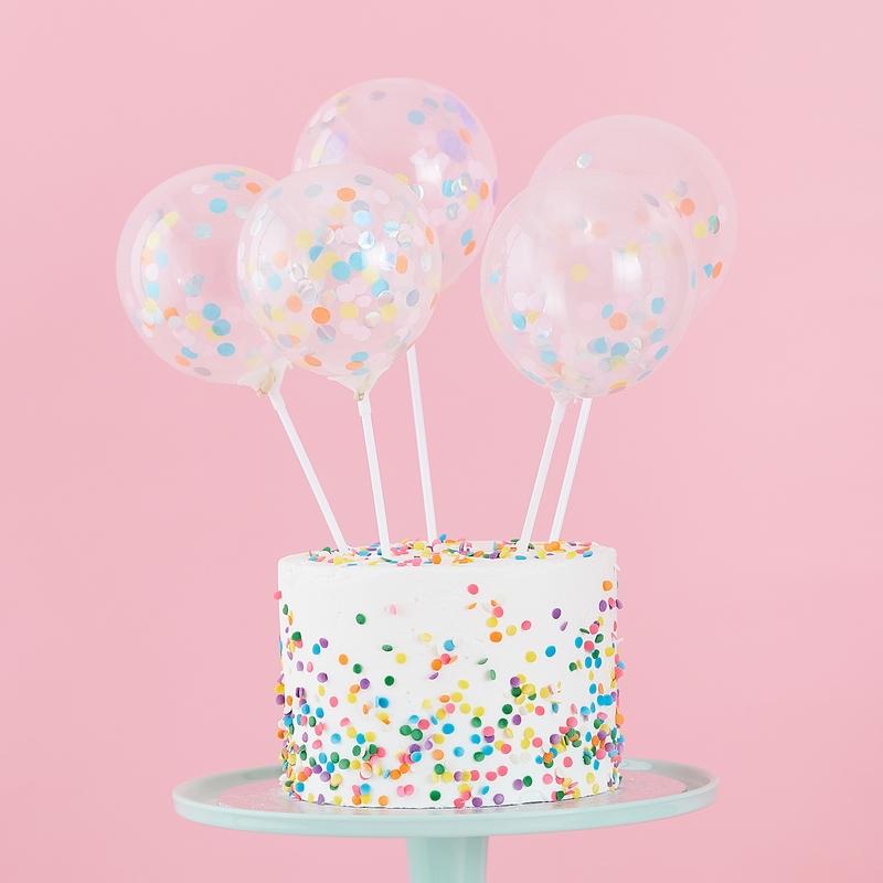 Kuchentopper Konfetti Luftballons 5er Set