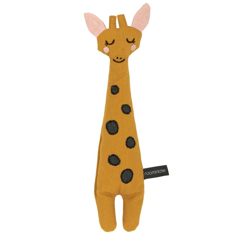 Spielpuppe 'Giraffe' bestickt senfgelb 30cm